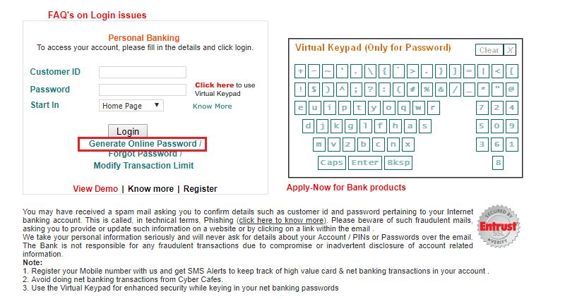 IDBI Net bankinig