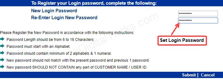 Indian bank Net banking Login Password