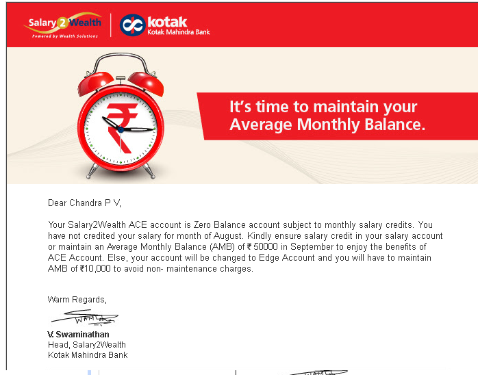 Kotak Mahindra Bank Salary Account